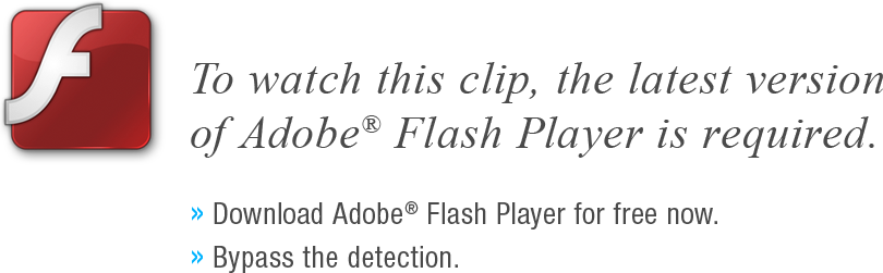 To watch this clip, the latest version of Adobe Flash Player is required.